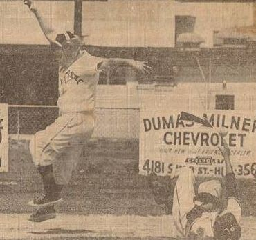 Pudgy Schnell Leaps Over Billy Campbell But Is Forced at 2nd, North Dade Optimist Little League Opening Day 1961