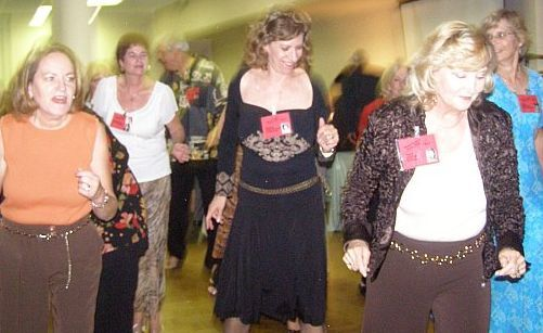 Girls  (including Madaline Shwake, Gale Olson and Debbie LaFragola) Dance It Up at the 40
